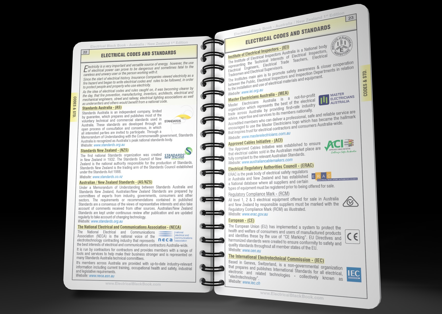 Australian Wiring Standards Book Custom Diagram 17th Edition Regulations Electrical Black No 1 Portable Reference For Rh Electricalblackbook Com Residential